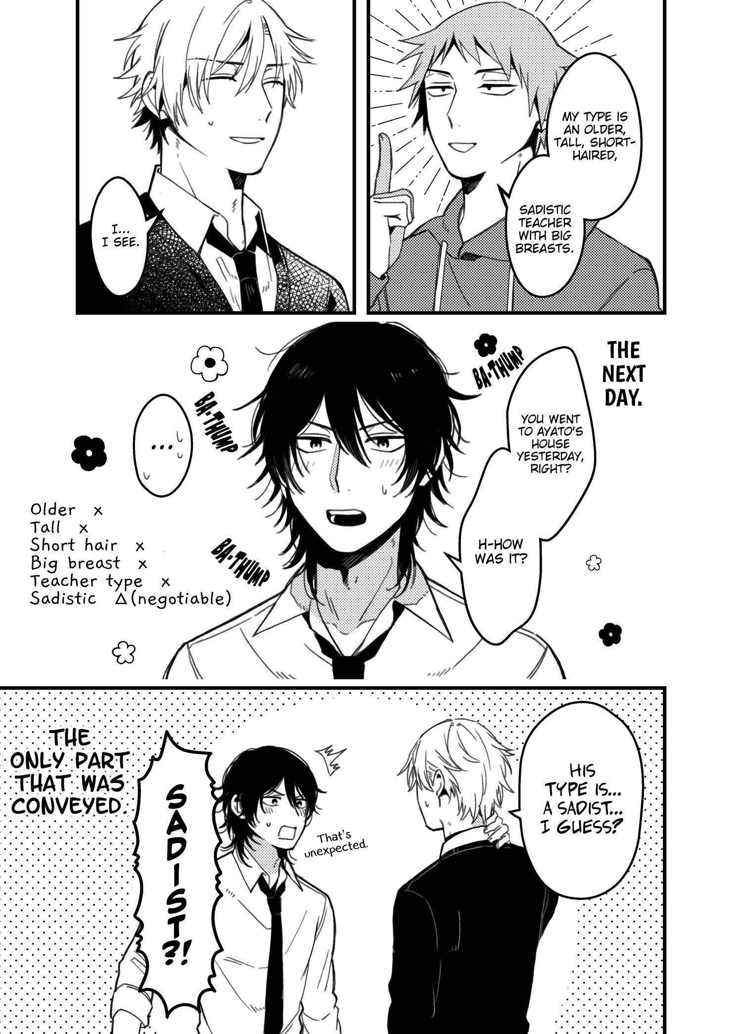 A World Where Everything Definitely Becomes Bl Vs. The Man Who Definitely Doesn't Want To Be In A Bl Volume 2 Chapter 35.6 : Twitter Comics page 5 - Mangakakalots.com