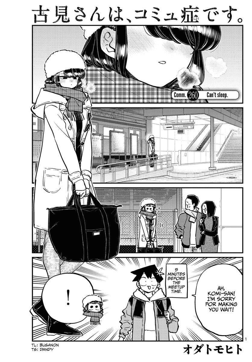 Komi-San Wa Komyushou Desu Chapter 260: Can't Sleep page 1 - Mangakakalot