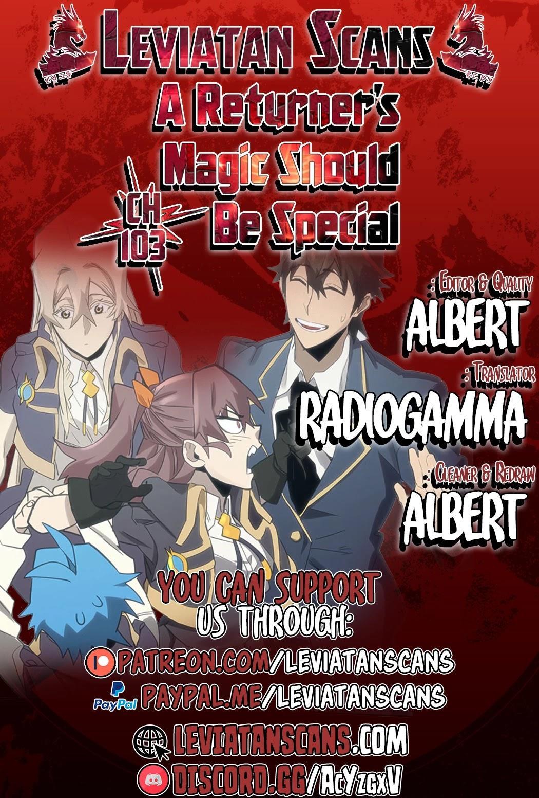 A Returner's Magic Should Be Special Chapter 103 page 1 - Mangakakalots.com