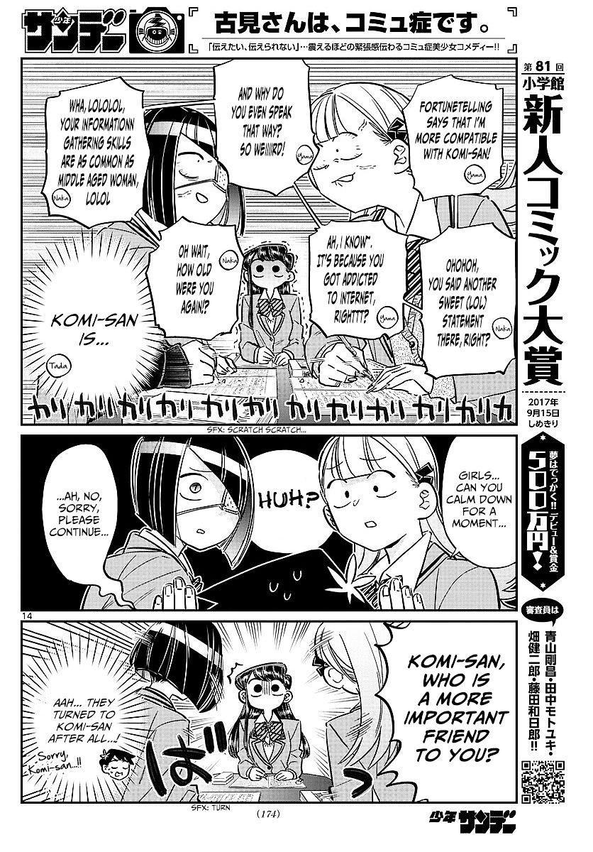 Komi-San Wa Komyushou Desu Vol.6 Chapter 79: Studying At Nakanaka-San's Place page 8 - Mangakakalot