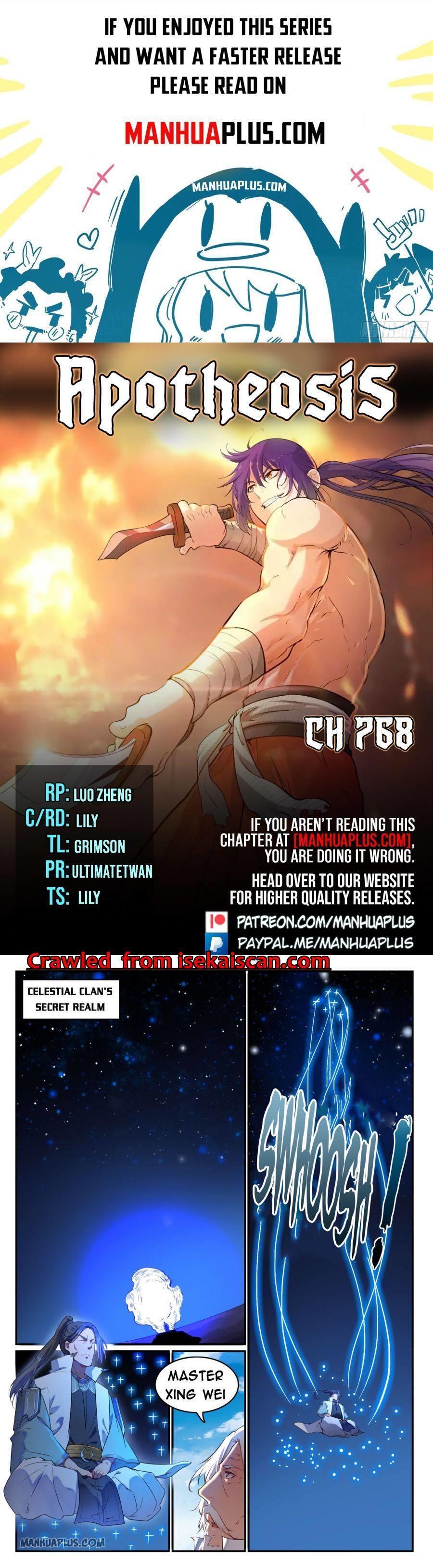 Apotheosis Chapter 768 page 1 - Mangakakalots.com