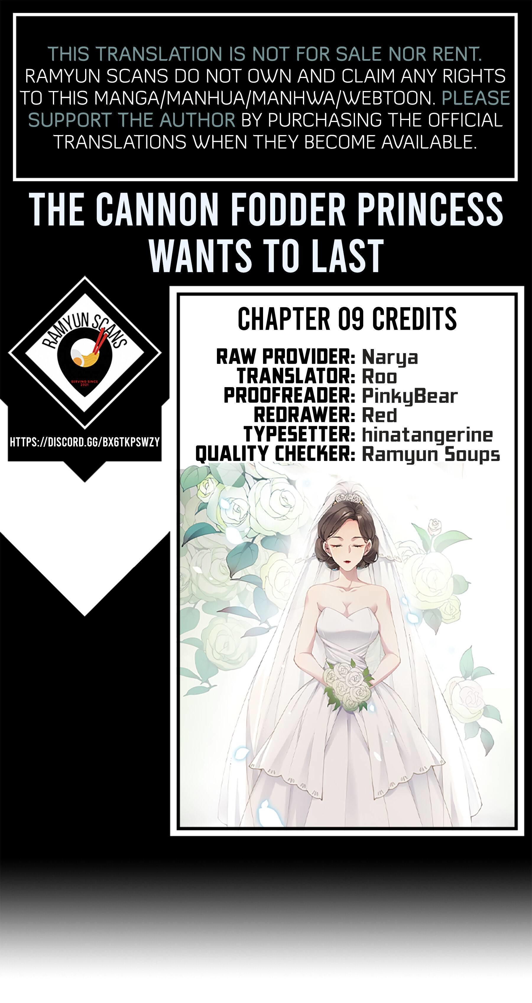 The Cannon Fodder Princess Wants To Last Chapter 9 page 1 - Mangakakalots.com
