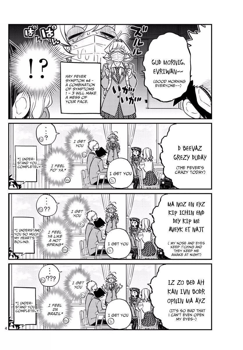 Komi-San Wa Komyushou Desu Vol.10 Chapter 138: Hay Fever page 4 - Mangakakalot