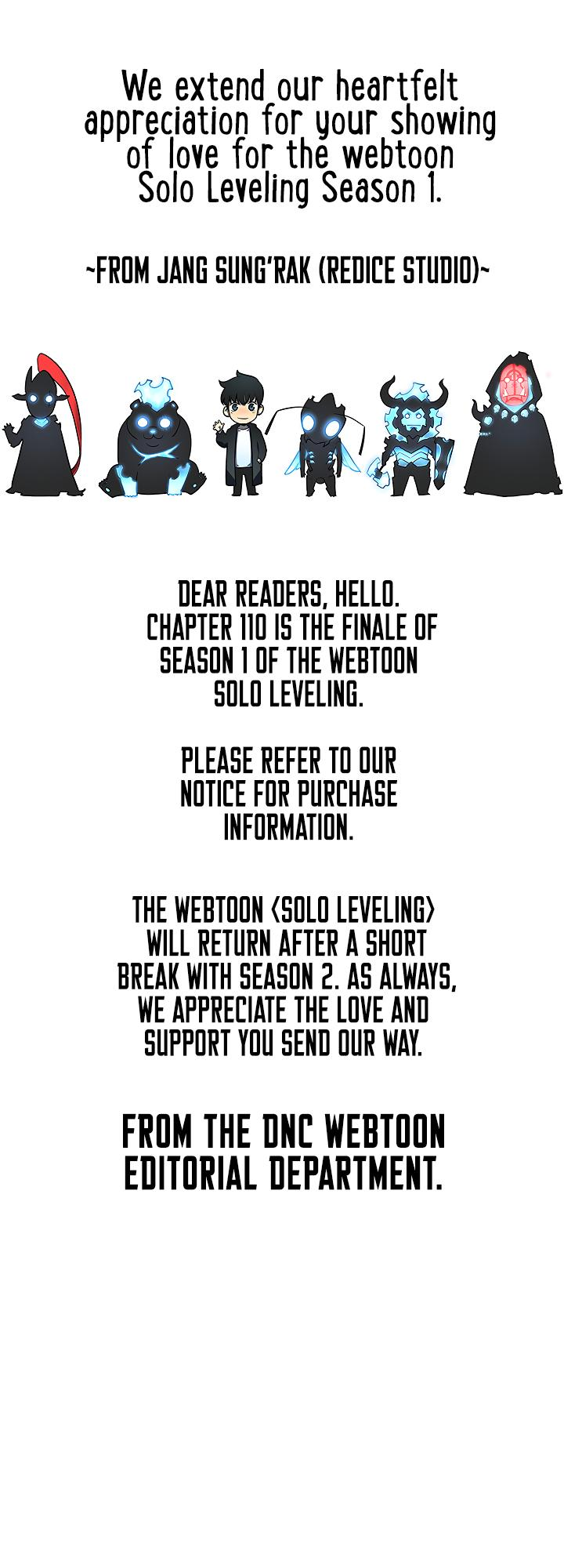 Solo Leveling Chapter 110: Season 1 Finale page 56 - Mangakakalots.com