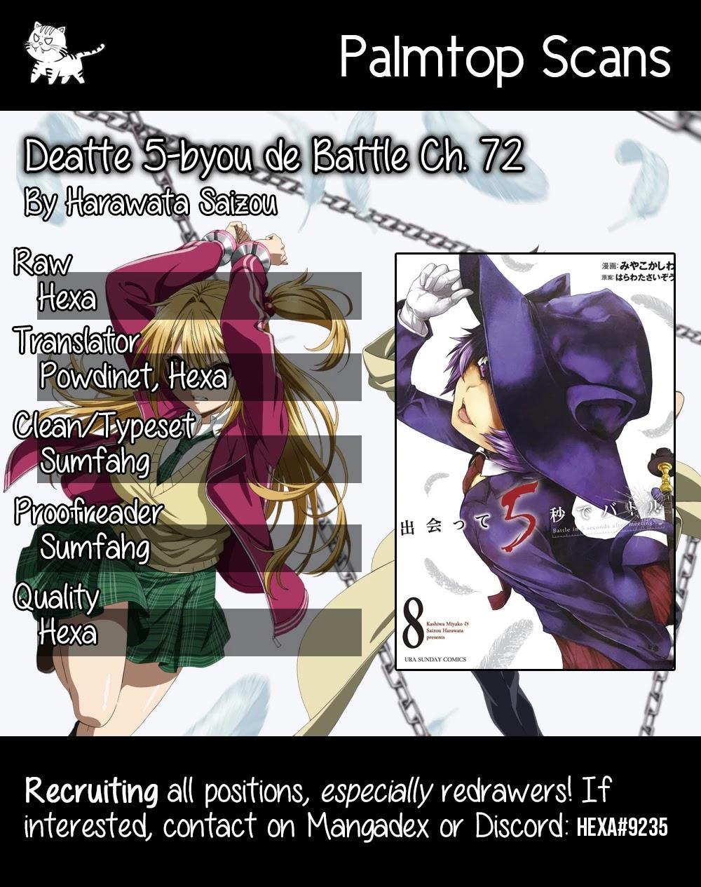 Deatte 5 Byou De Battle Chapter 72 page 1 - Mangakakalots.com