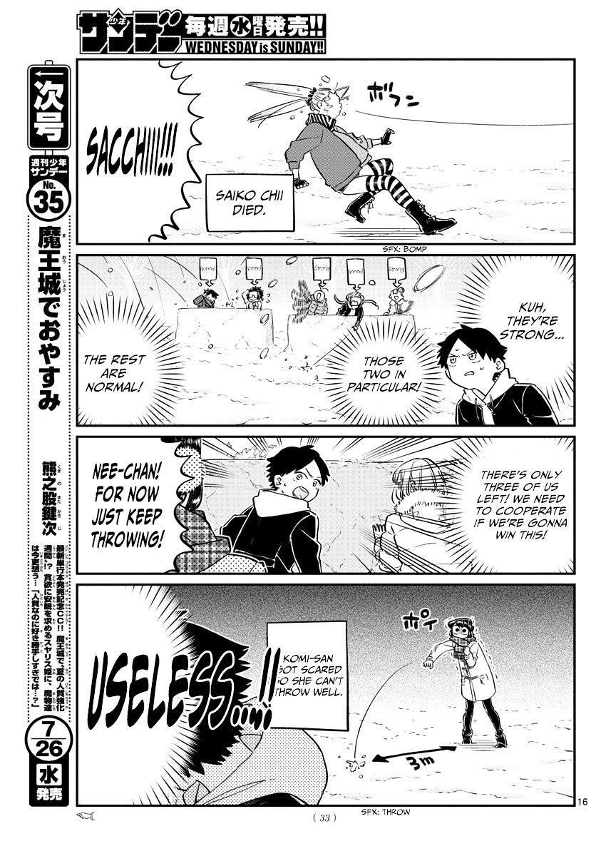 Komi-San Wa Komyushou Desu Vol.7 Chapter 90: Snowball Fight page 5 - Mangakakalot