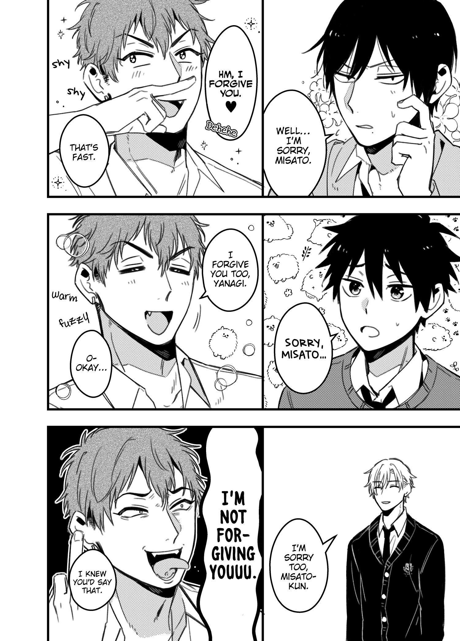 A World Where Everything Definitely Becomes Bl Vs. The Man Who Definitely Doesn't Want To Be In A Bl Volume 2 Chapter 35.6 : Twitter Comics page 10 - Mangakakalots.com