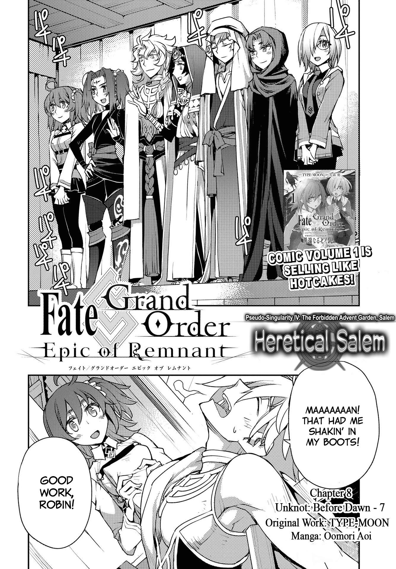 Fate/grand Order: Epic Of Remnant - Subspecies Singularity Iv: Taboo Advent Salem: Salem Of Heresy Chapter 8: Unknot: Before Dawn 7 page 2 - Mangakakalots.com