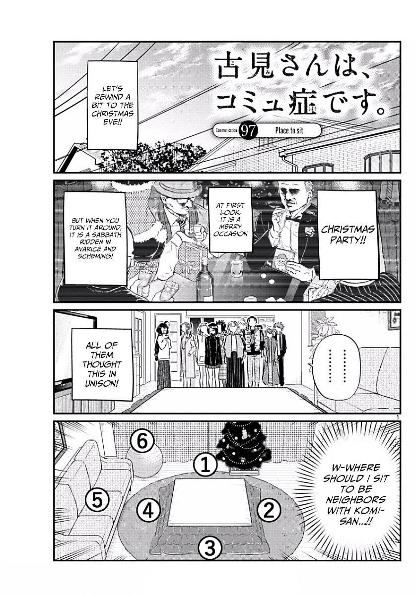 Komi-San Wa Komyushou Desu Vol.7 Chapter 97: Place To Sit page 1 - Mangakakalot