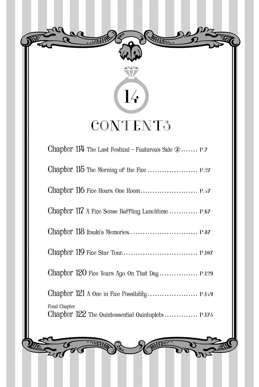 Go-Toubun No Hanayome Vol.14 Chapter 122.5: Vol 14 Extras page 5 - Mangakakalot