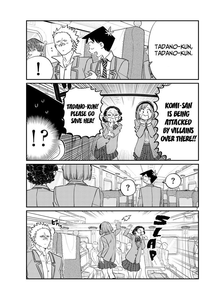 Komi-San Wa Komyushou Desu Vol.8 Chapter 113: The Train Ride Home page 7 - Mangakakalot