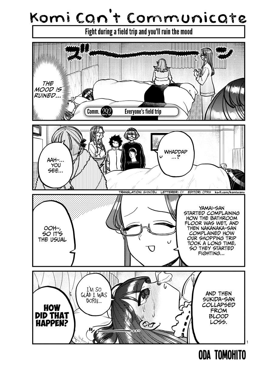 Komi-San Wa Komyushou Desu Chapter 292: Everyone's Field Trip page 1 - Mangakakalot