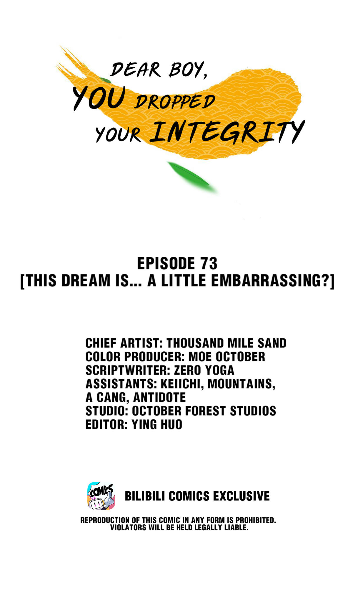 Dear Boy, You Dropped Your Integrity Chapter 78: This Dream Is... A Little Embarrassing? page 1 - Mangakakalots.com