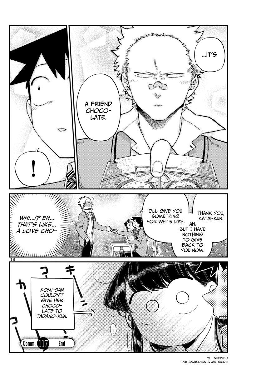 Komi-San Wa Komyushou Desu Vol.9 Chapter 117: Valentine's Day page 18 - Mangakakalot