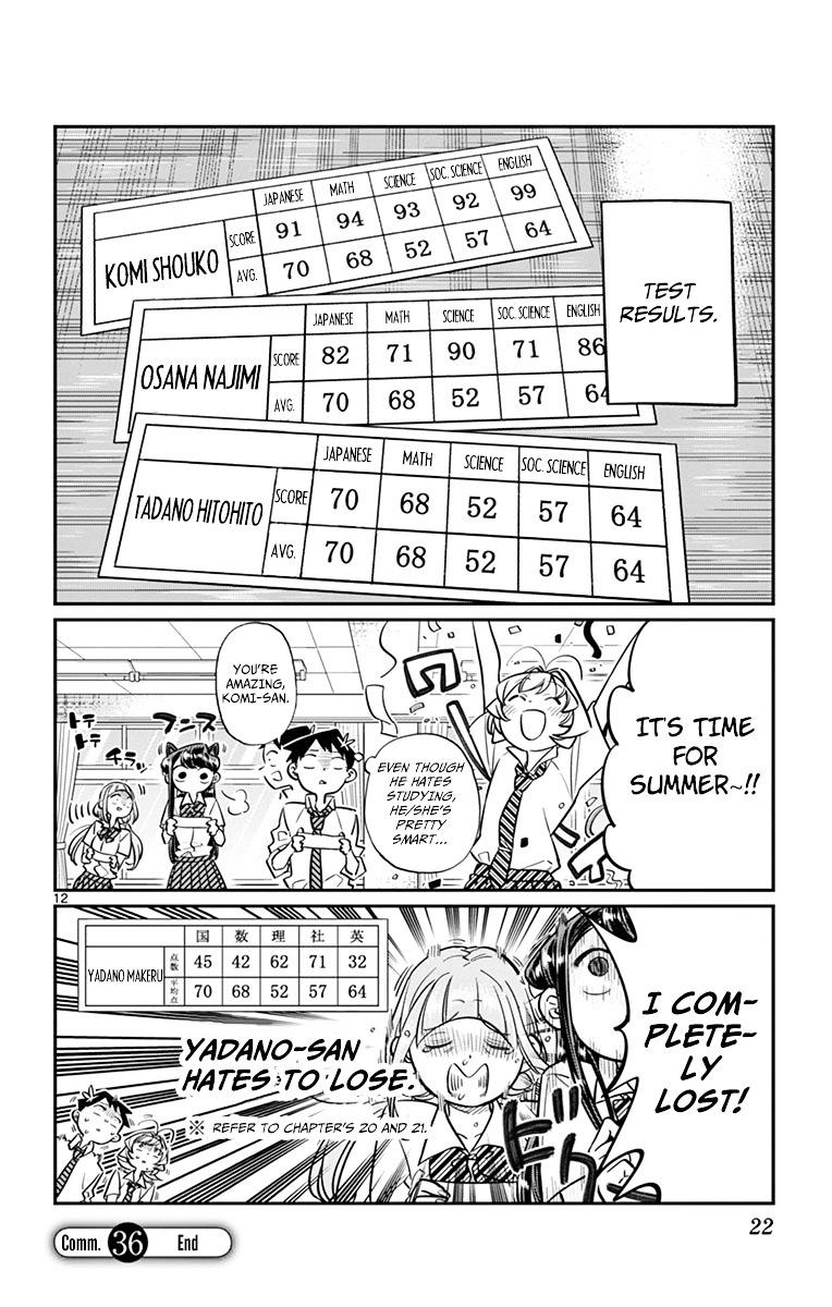 Komi-San Wa Komyushou Desu Vol.3 Chapter 36: Studying For Tests page 12 - Mangakakalot