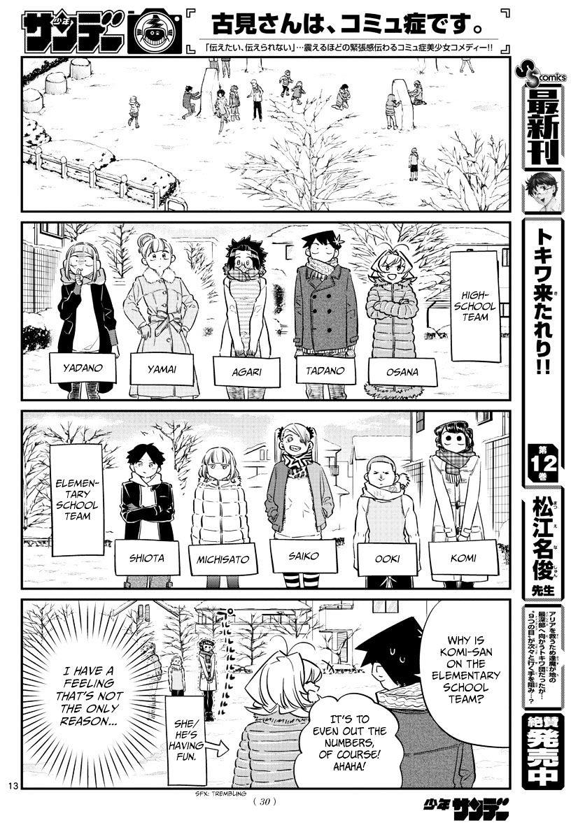 Komi-San Wa Komyushou Desu Vol.7 Chapter 90: Snowball Fight page 2 - Mangakakalot