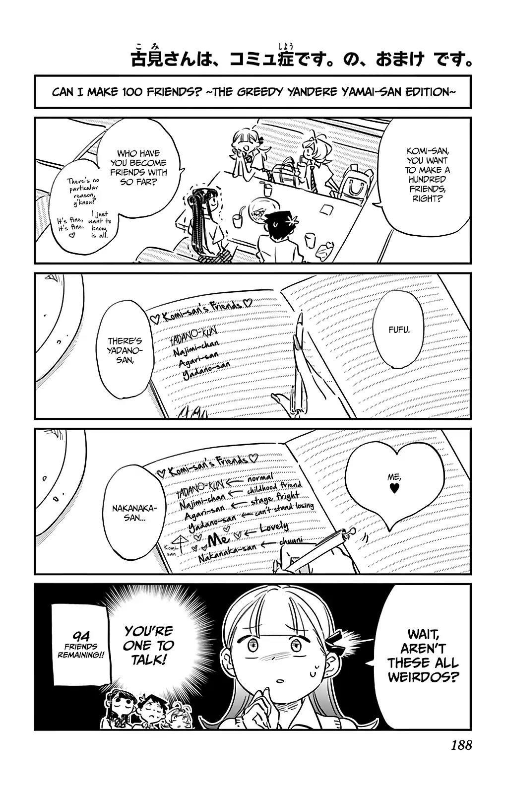 Komi-San Wa Komyushou Desu Vol.2 Chapter 34.5: Omake page 1 - Mangakakalot