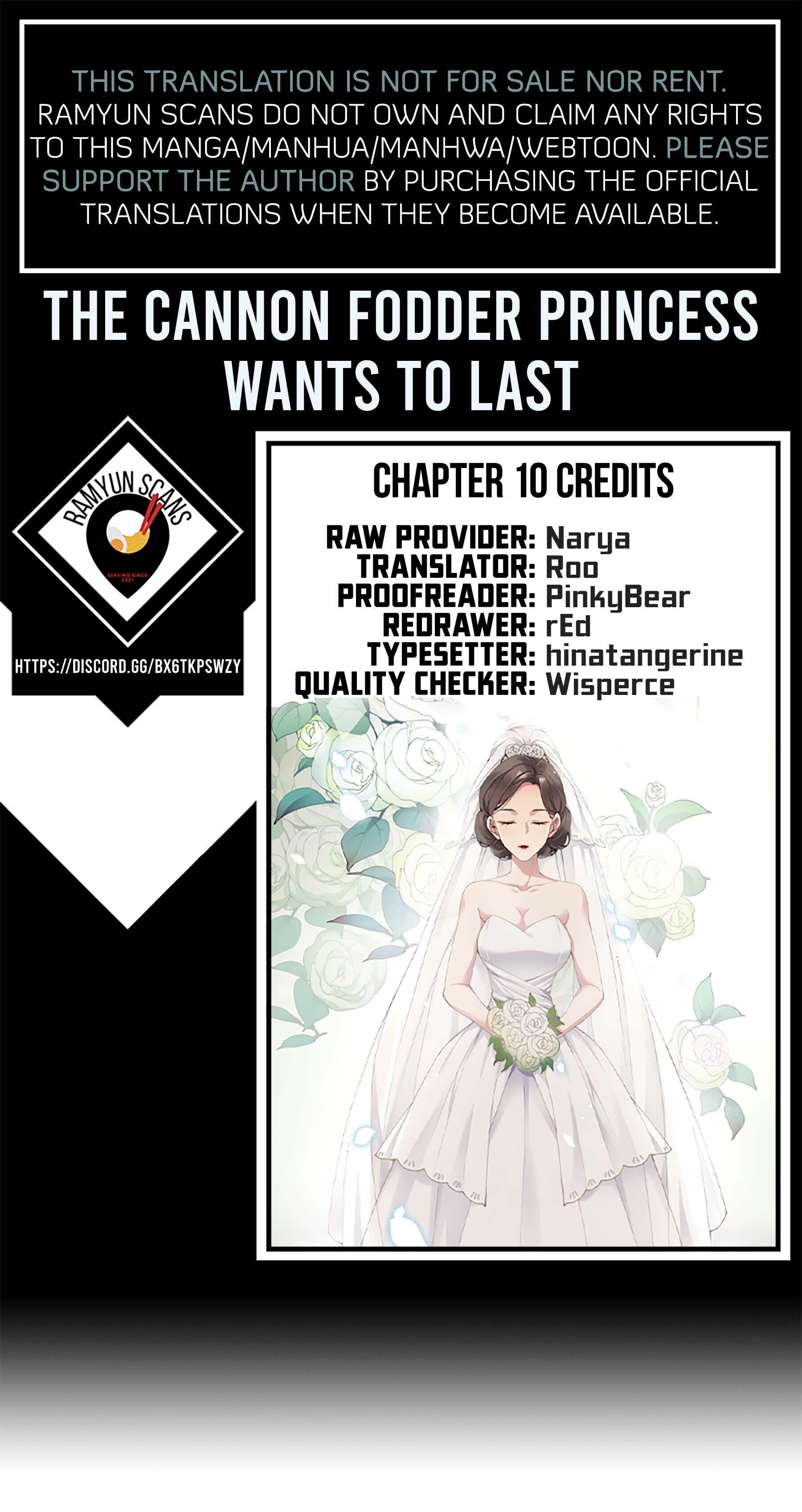 The Cannon Fodder Princess Wants To Last Chapter 10 page 1 - Mangakakalots.com