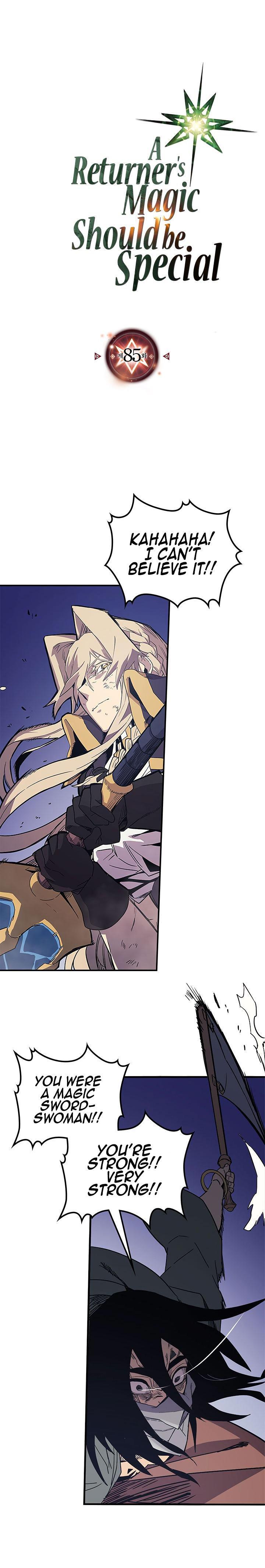 A Returner's Magic Should Be Special Chapter 85 page 1 - Mangakakalots.com