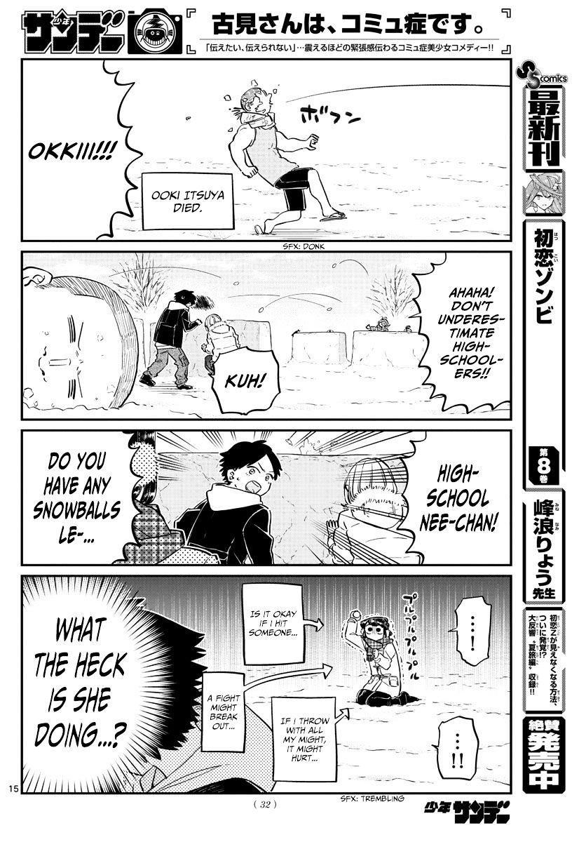 Komi-San Wa Komyushou Desu Vol.7 Chapter 90: Snowball Fight page 4 - Mangakakalot