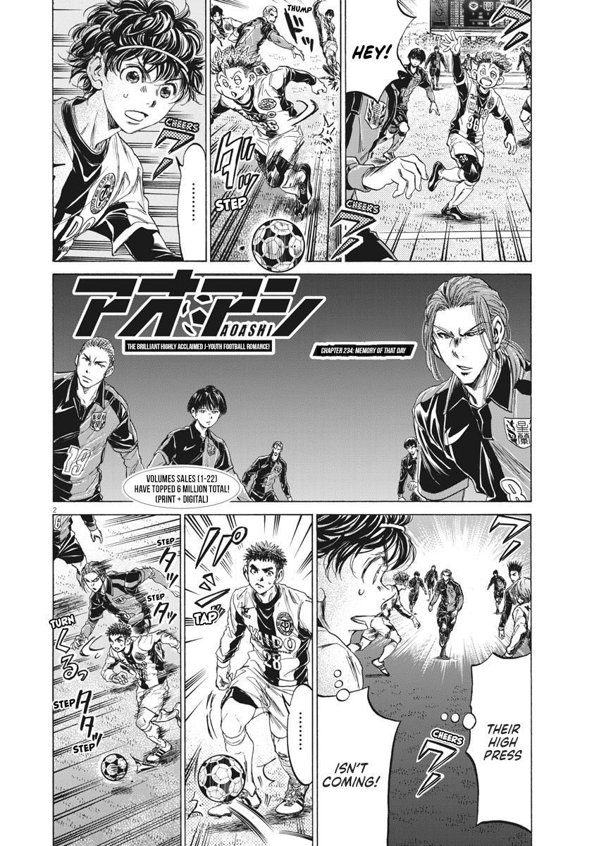 Ao Ashi Vol.23 Chapter 234: Memory Of That Day page 2 - Mangakakalots.com