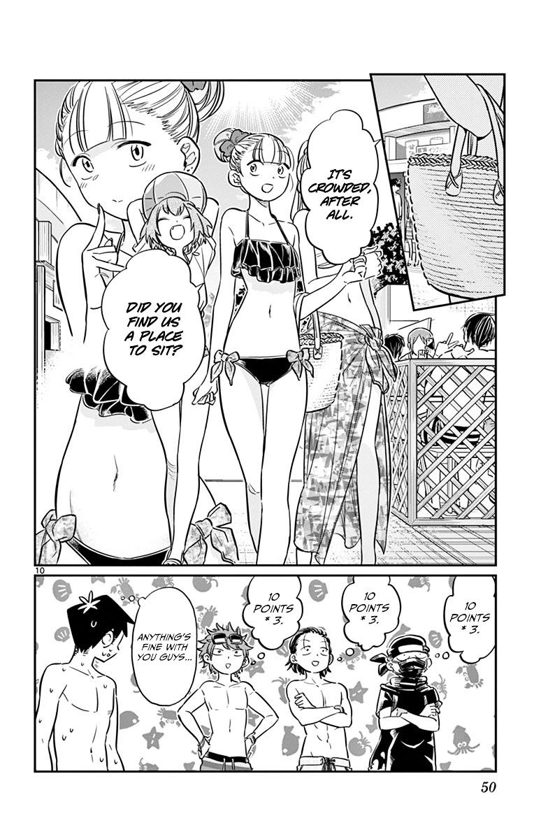 Komi-San Wa Komyushou Desu Vol.3 Chapter 39: Pool page 10 - Mangakakalot