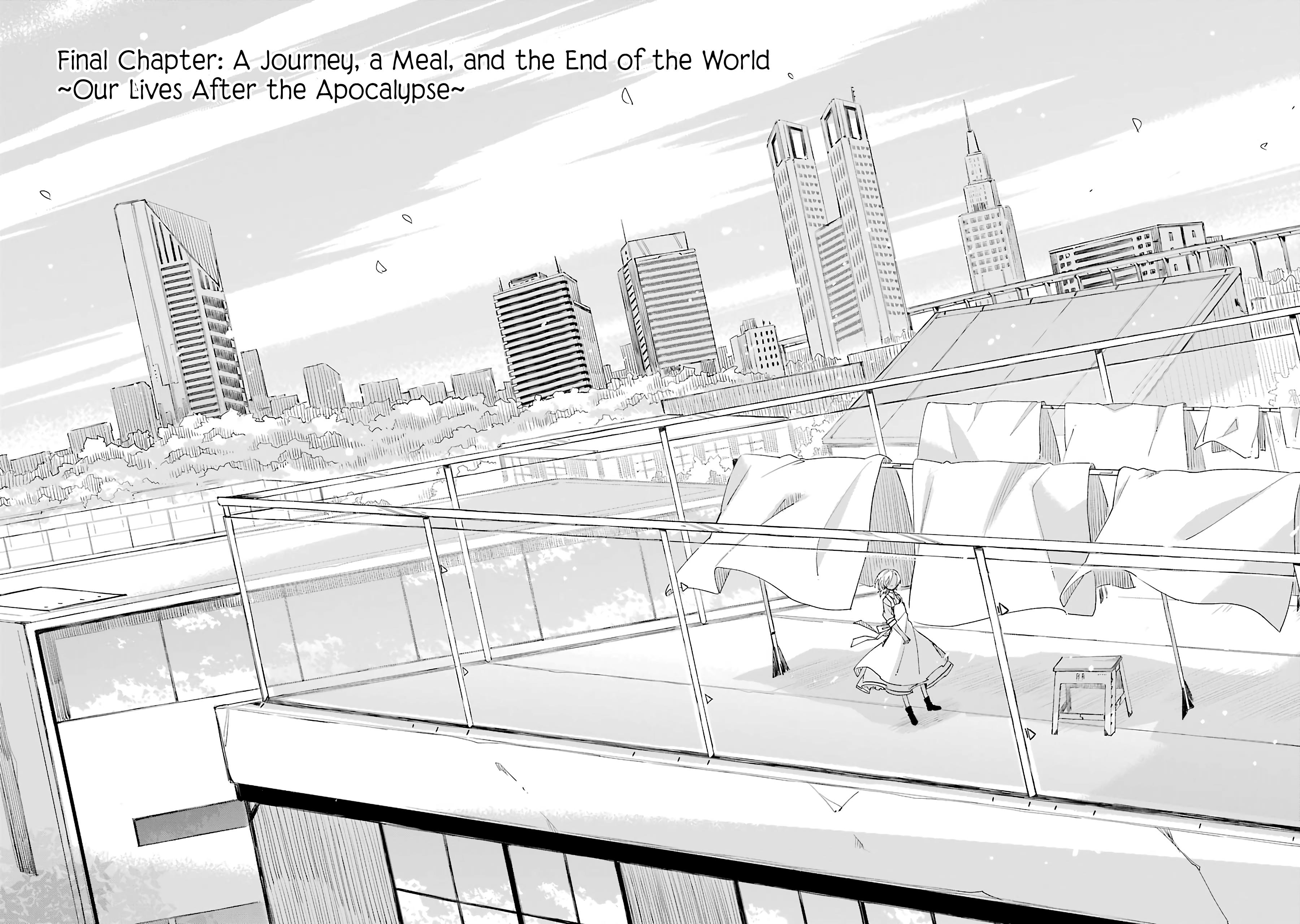 Our Lives After The Apocalypse Vol.3 Chapter 17: Final Chapter: A Journey, A Meal, And The End Of The World ~Our Lives After The Apocalypse~ page 3 - Mangakakalots.com