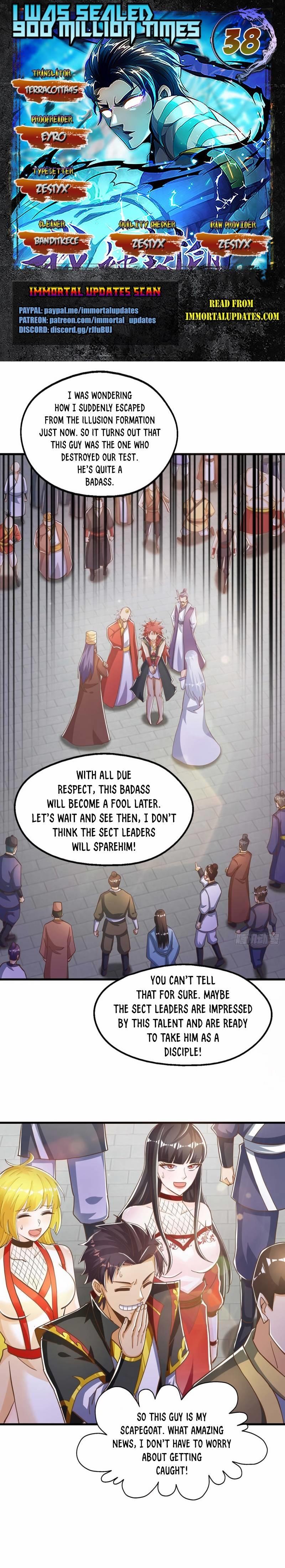 I Was Sealed 900 Million Times Chapter 38 page 1 - Mangakakalots.com
