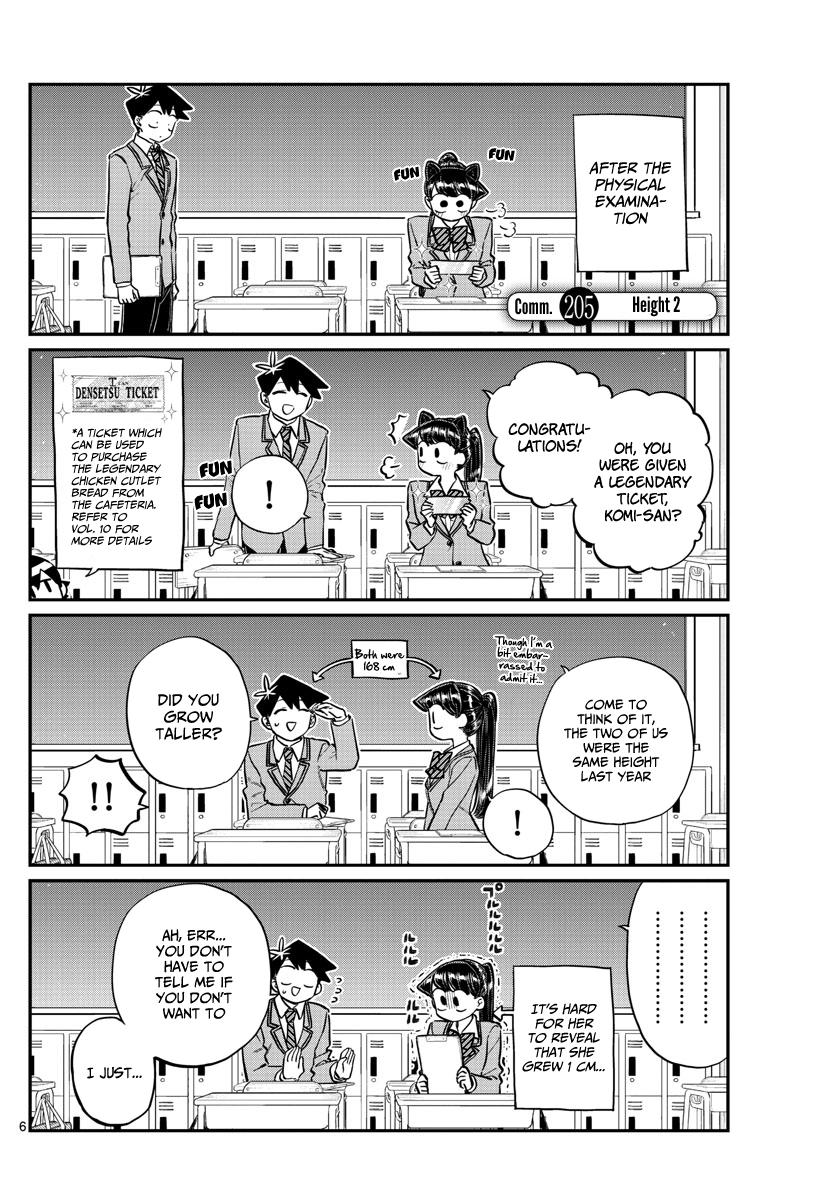 Komi-San Wa Komyushou Desu Chapter 205: Height 2 page 1 - Mangakakalot
