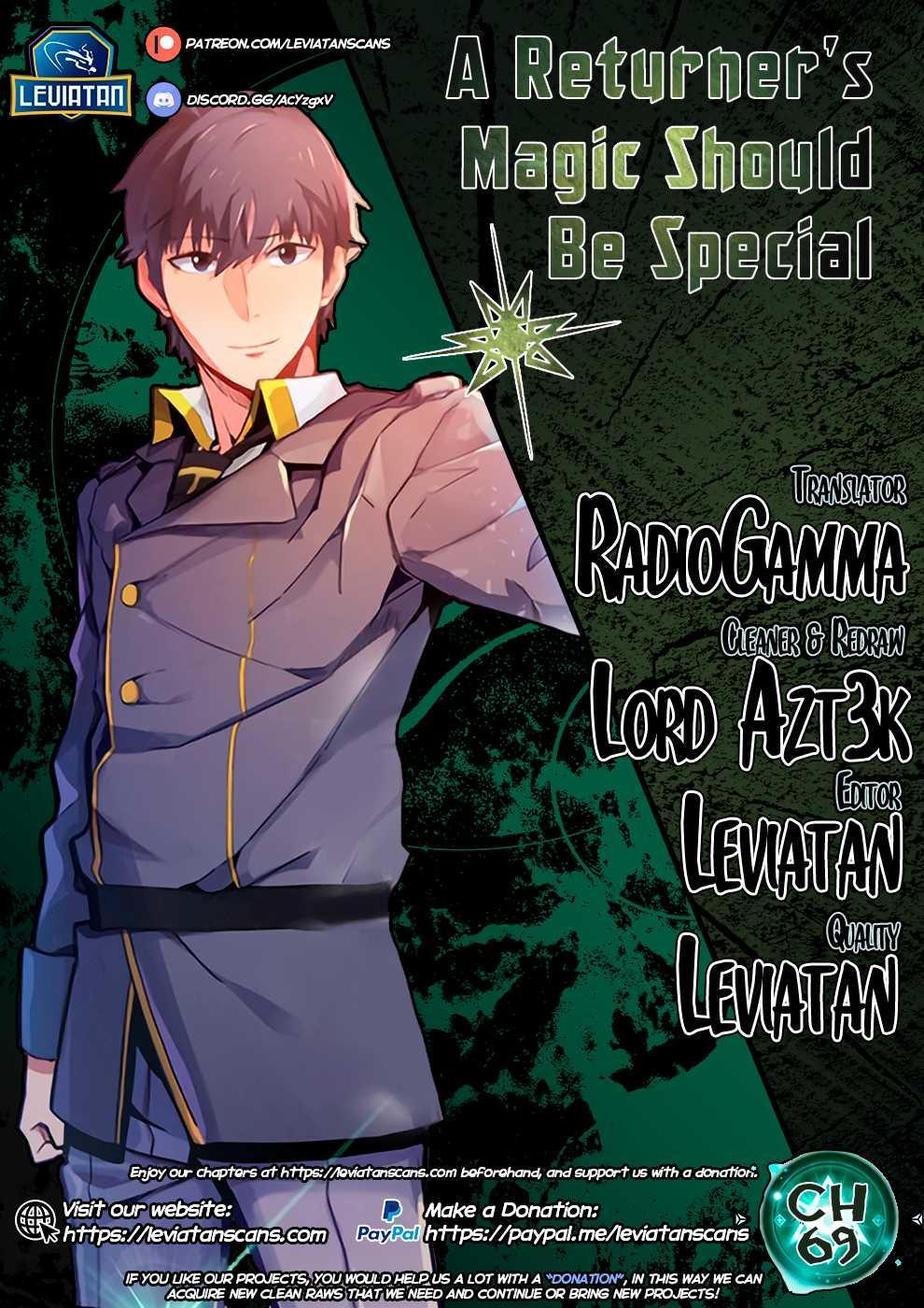 A Returner's Magic Should Be Special Chapter 69 page 1 - Mangakakalots.com