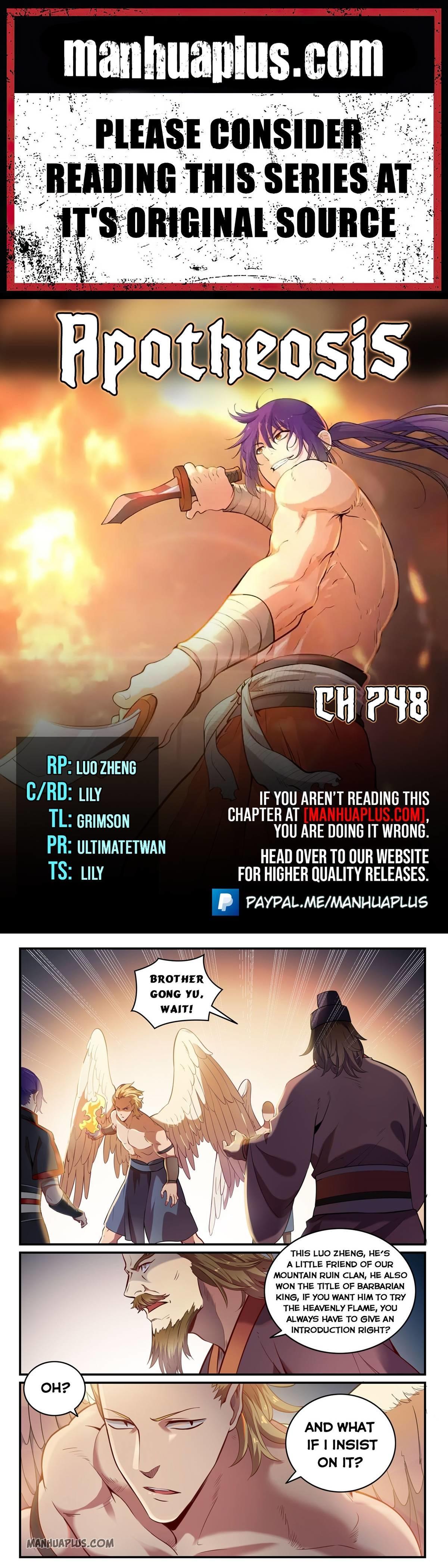 Apotheosis Chapter 748 page 1 - Mangakakalots.com