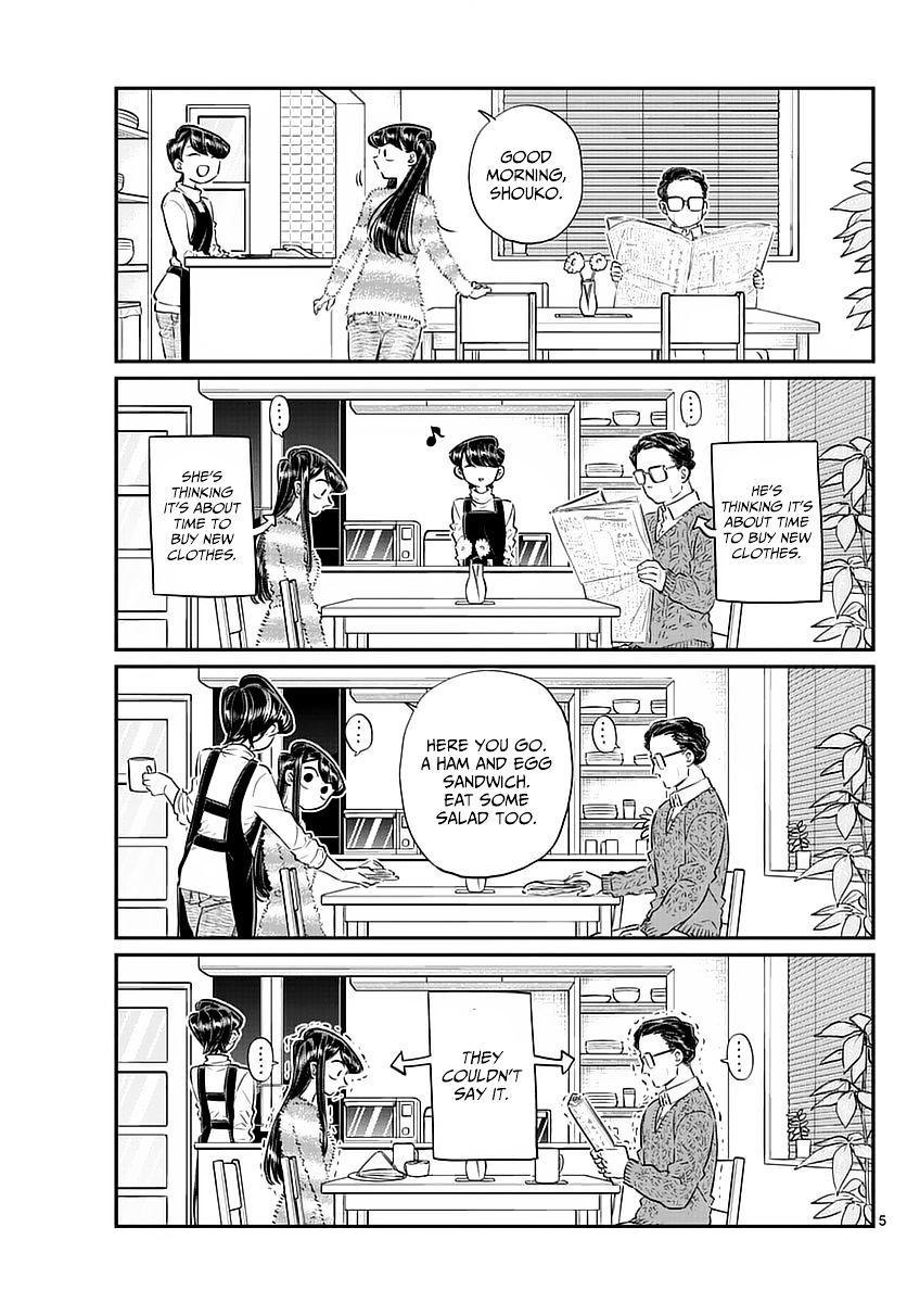 Komi-San Wa Komyushou Desu Vol.6 Chapter 74: Shopping With Dad page 5 - Mangakakalot
