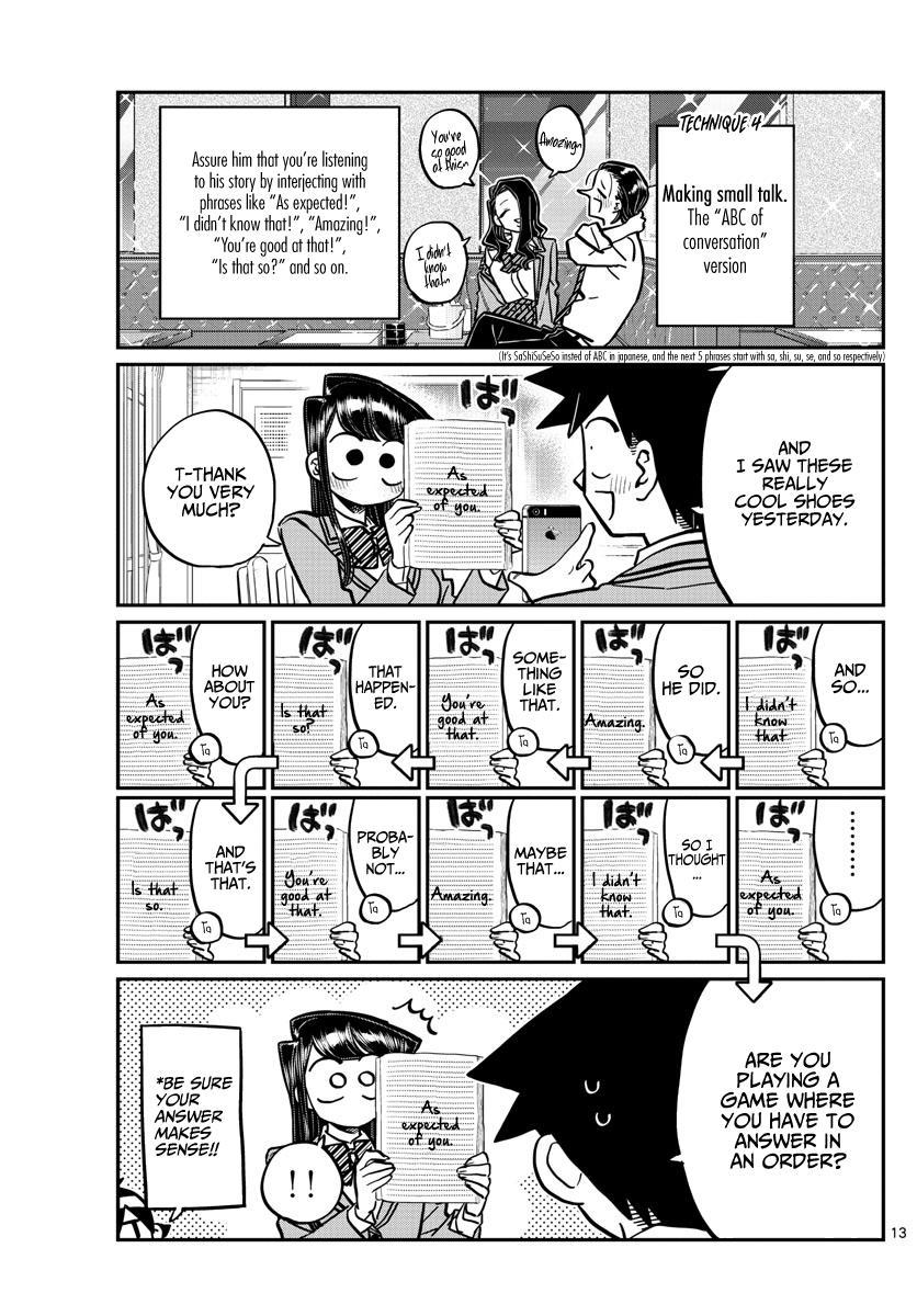 Komi-San Wa Komyushou Desu Chapter 240: Technique page 13 - Mangakakalot