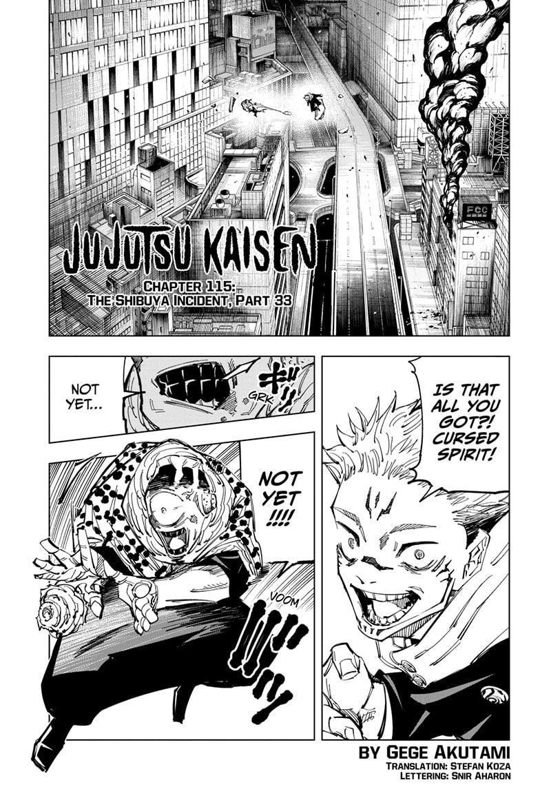 Jujutsu Kaisen Chapter 115 page 1 - Mangakakalot
