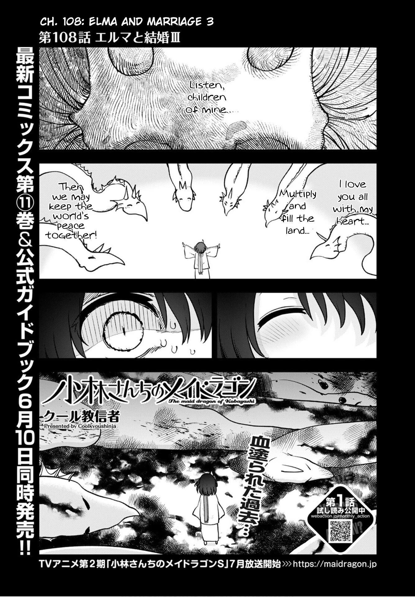 Kobayashi-San Chi No Maid Dragon Chapter 108 page 1 - Mangakakalots.com