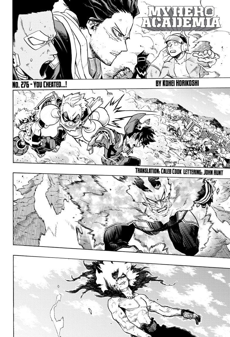 Boku No Hero Academia Chapter 276 page 4 - Mangakakalots.com