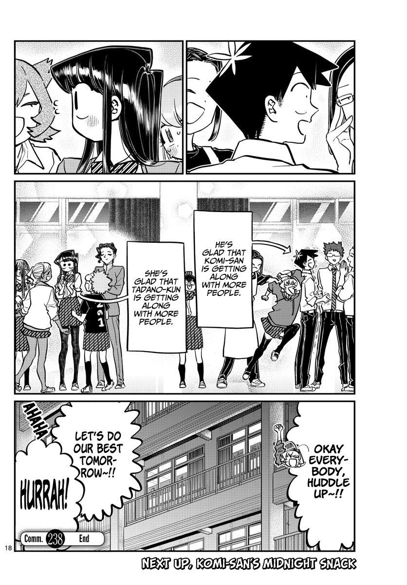 Komi-San Wa Komyushou Desu Chapter 238: Looking Back At The Festival page 18 - Mangakakalot