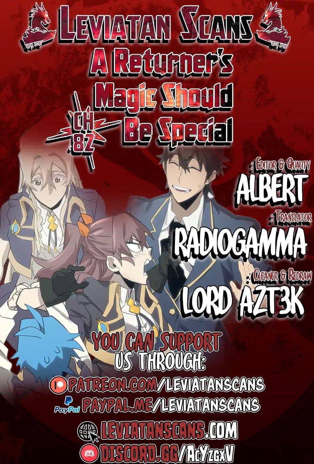 A Returner's Magic Should Be Special Chapter 82 page 1 - Mangakakalots.com