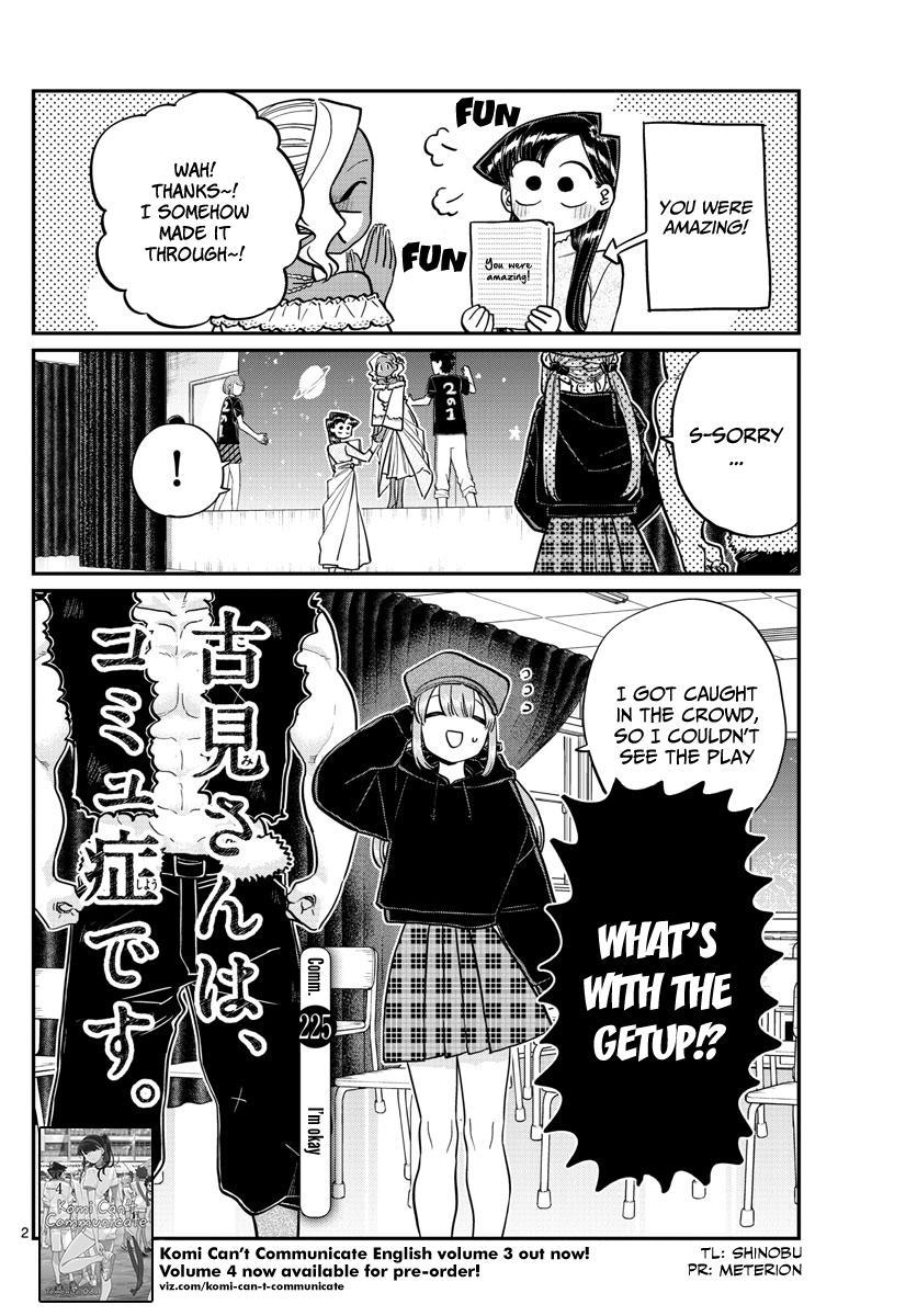 Komi-San Wa Komyushou Desu Chapter 225: I'm Okay page 2 - Mangakakalot