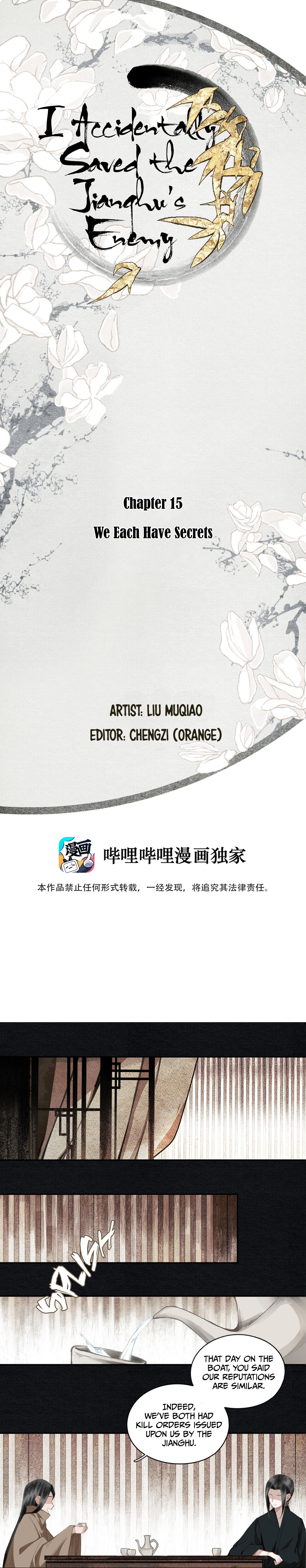 I Accidentally Saved The Jianghu'S Enemy Chapter 15: We Each Have Secrets page 1 - Mangakakalots.com