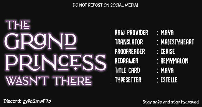 The Grand Princess Was Not There Chapter 5 page 1 - Mangakakalots.com