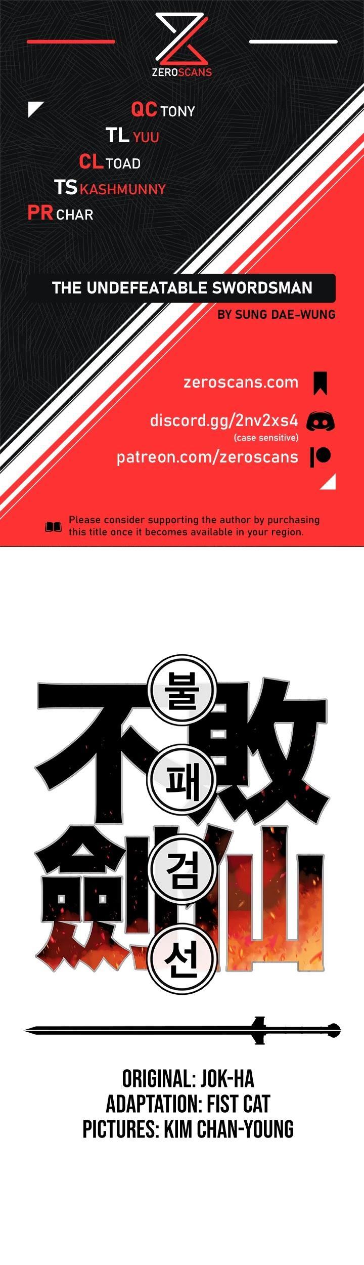 The Undefeatable Swordsman Chapter 73 page 1 - Mangakakalots.com