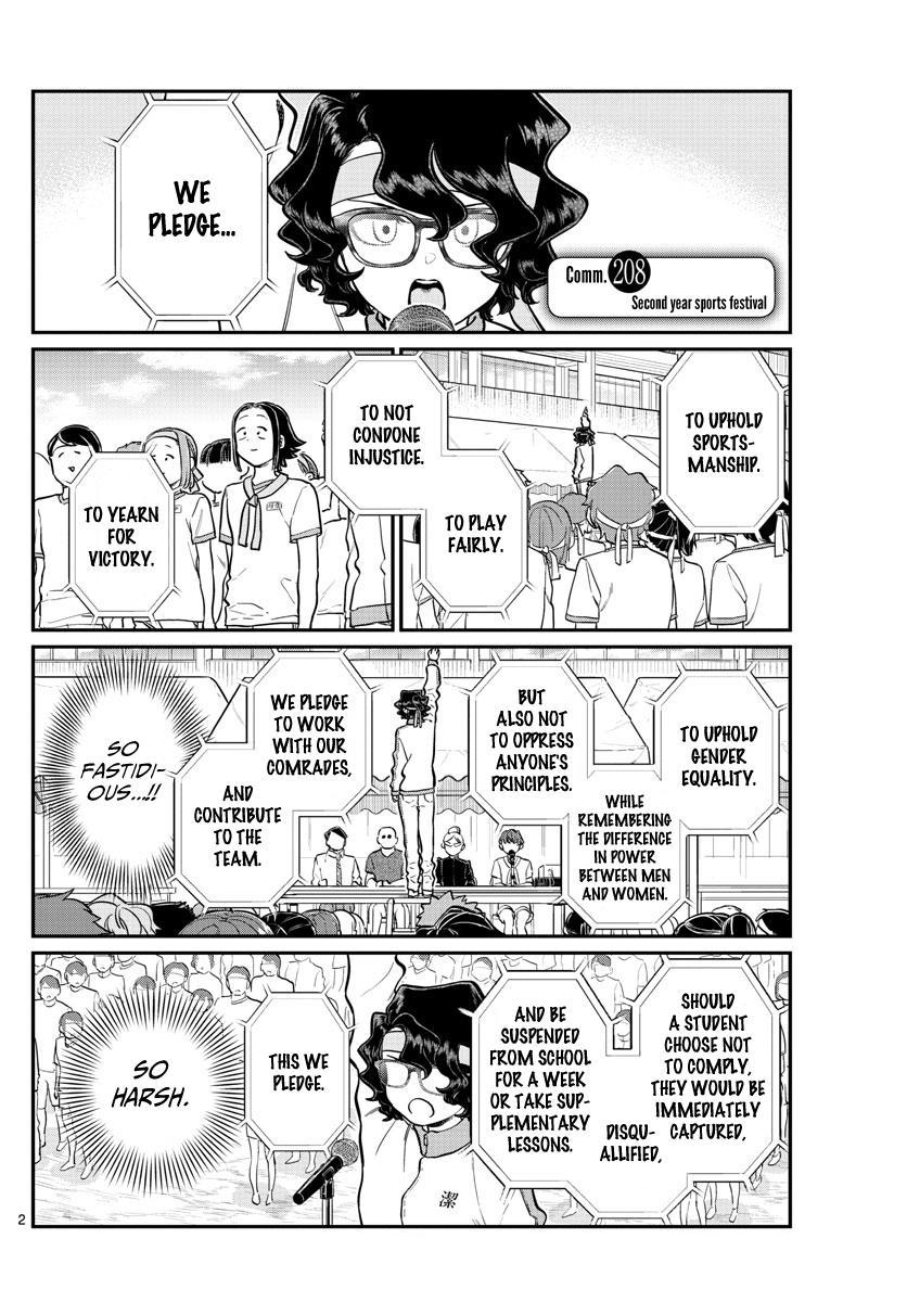 Komi-San Wa Komyushou Desu Chapter 208: Second Year Sports Festival page 2 - Mangakakalot