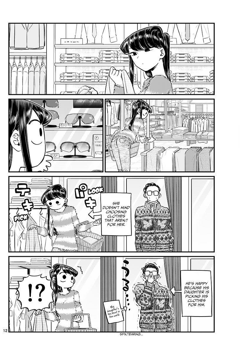 Komi-San Wa Komyushou Desu Vol.6 Chapter 74: Shopping With Dad page 12 - Mangakakalot