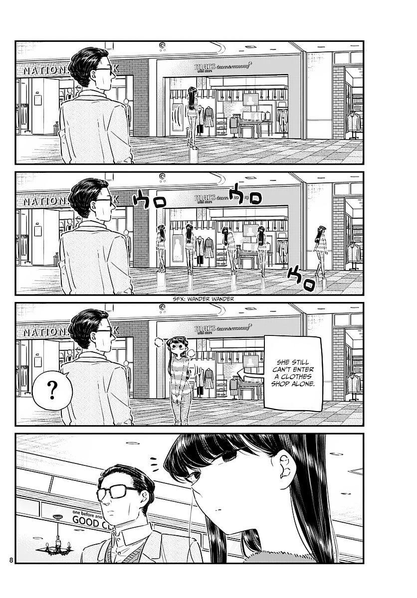 Komi-San Wa Komyushou Desu Vol.6 Chapter 74: Shopping With Dad page 8 - Mangakakalot