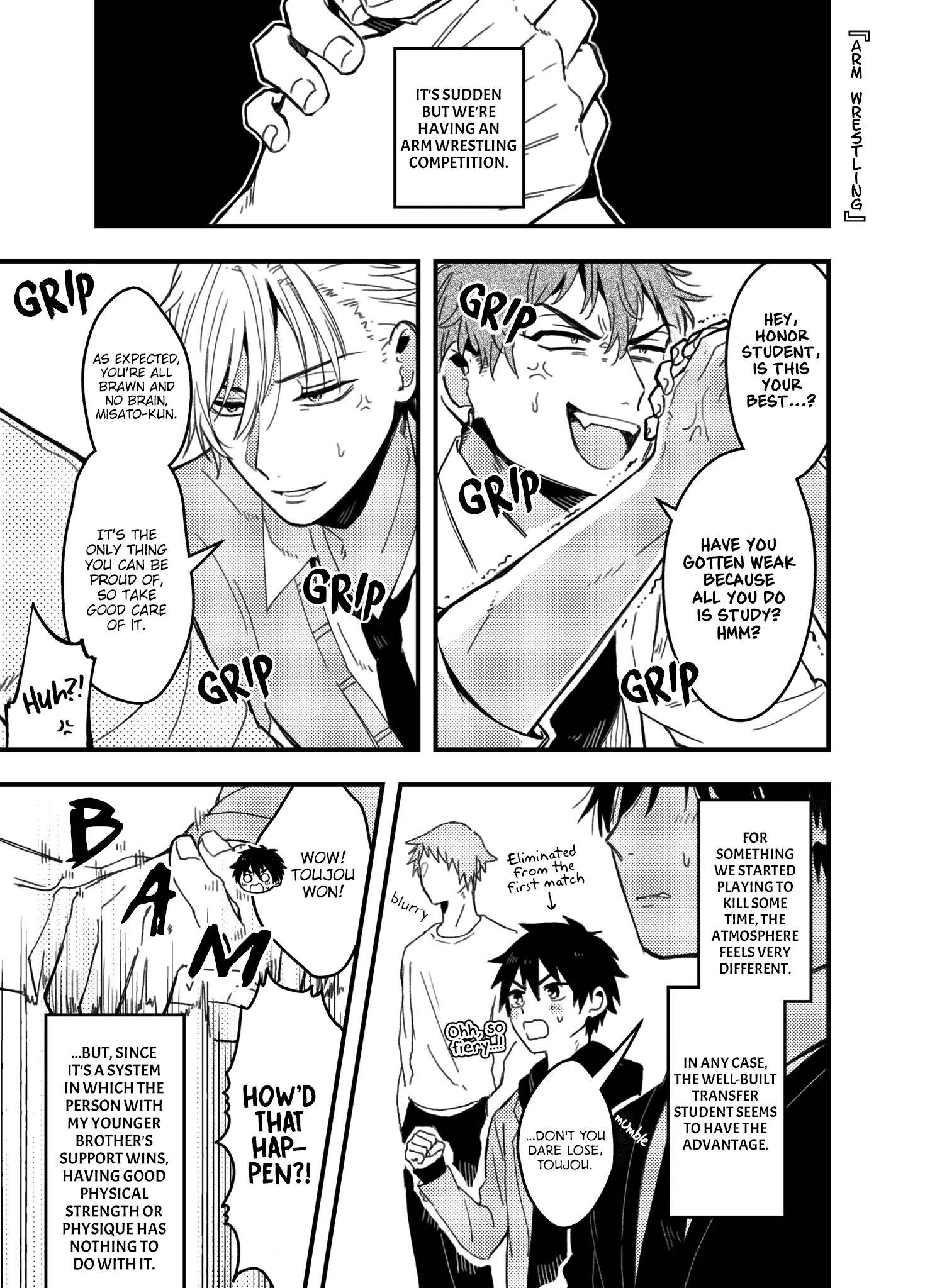 A World Where Everything Definitely Becomes Bl Vs. The Man Who Definitely Doesn't Want To Be In A Bl Volume 2 Chapter 35.6 : Twitter Comics page 3 - Mangakakalots.com