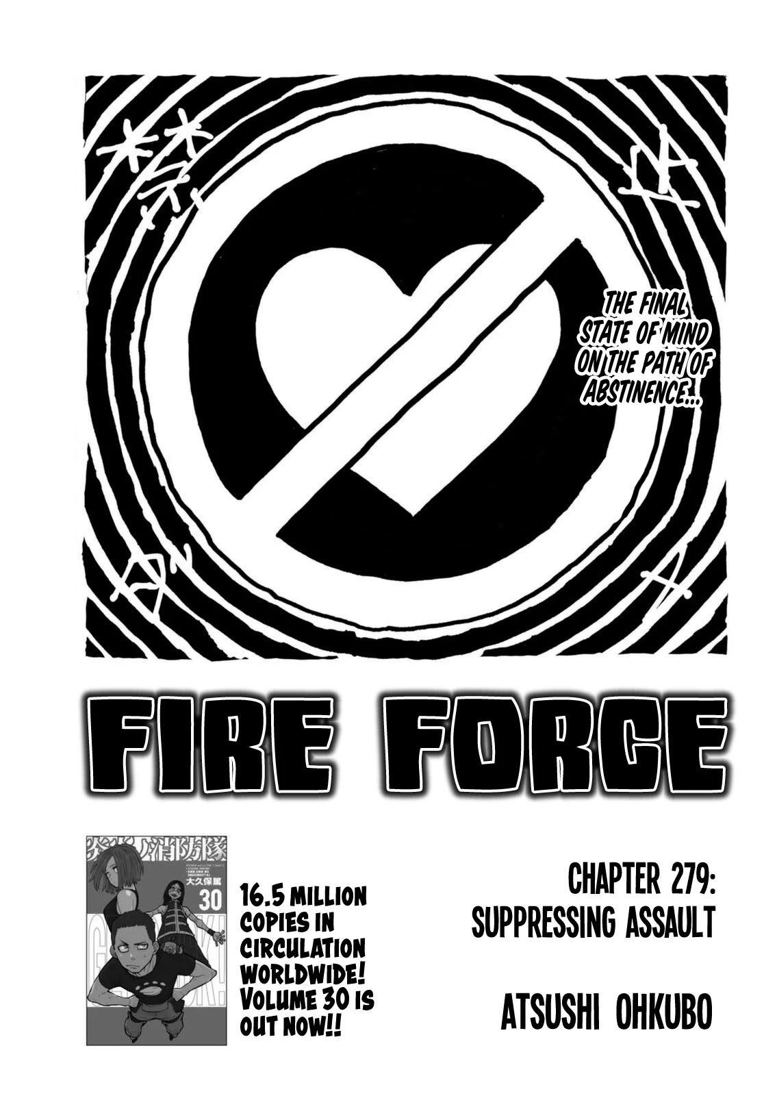 Enen No Shouboutai Chapter 279: Suppressing Assault page 1 - Mangakakalot