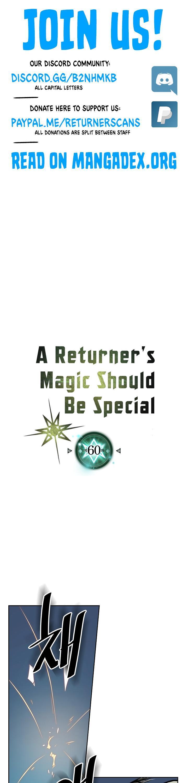 A Returner's Magic Should Be Special Chapter 60 page 1 - Mangakakalots.com
