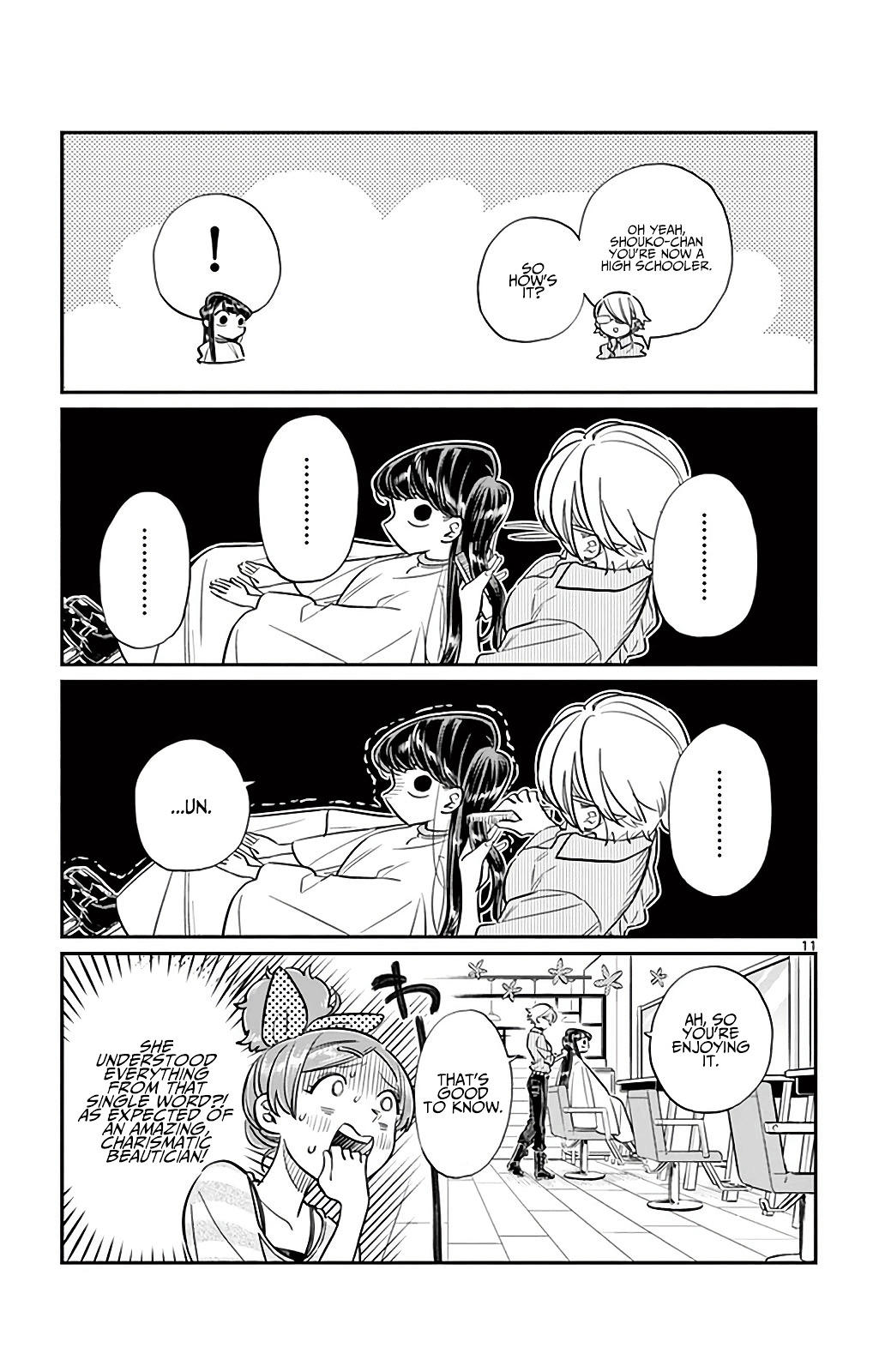 Komi-San Wa Komyushou Desu Vol.2 Chapter 34: The Hair Salon page 11 - Mangakakalot