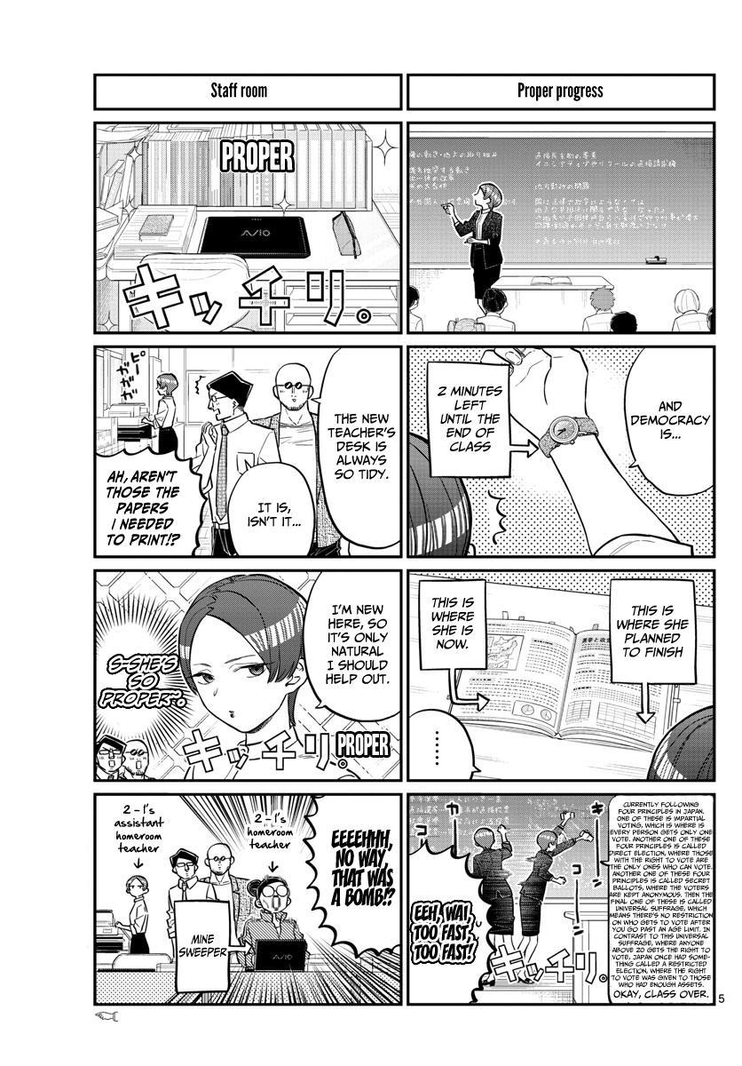 Komi-San Wa Komyushou Desu Vol.12 Chapter 158: Sensei page 5 - Mangakakalot